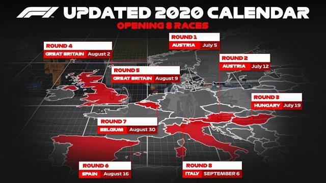 Formule 1 calendrier